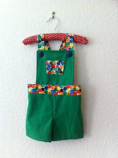 Baby and Toddler Dungaree shorts with The Very Hungry Caterpillar fabric Perfect Handmade Gift on Etsy, $31.62