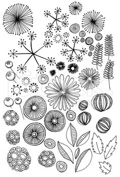 Embroidery Pattern from abstract nature doodles royalty-free stock illustration, via istockphoto.com, Link Good!   jwt
