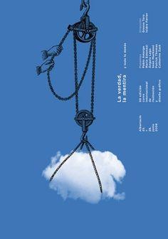 """PG349 """"Albarracín: 50 Edición Curso Internacional de Ilustración y Diseño Gráfico"""" Poster by Isidro Ferrer (2008)"""