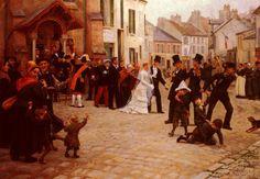 O cortejo nupcial, 1920 Gabriel Charles Deneux (França, 1856-1926) óleo sobre tela, 139 x 177 cm Coleção Particular