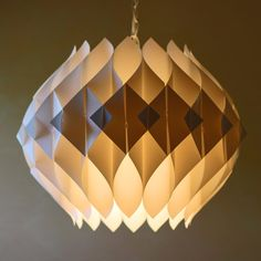 Modern Pendant Lamp White I by Modish Vintage now featured on Fab. Plug In Pendant Light, Pendant Lamp, Pendant Lighting, Metal Chandelier, Ceiling Light Design, Lighting Design, Led, Origami Lamp, Paper Flower Art