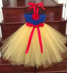 Snow White tutu dress.  www.facebook.com/gigglesandwigglestutus