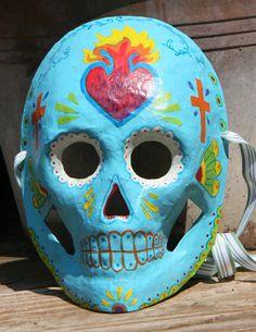 Sacred Heart style Calavera Dia De Los Muertos by BlueGooseStudios