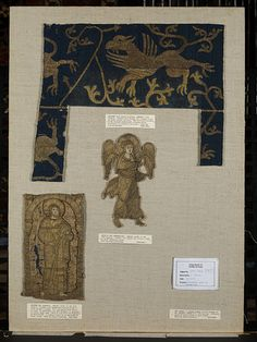 Gryphon in silk from 1200's Germany.  To me, this indicates the potential richness of clothing amongst the nobility.