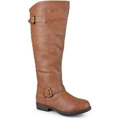 Brinley Co. Womens Wide-Calf Knee-High Studded Riding Boot, Women's, Size: 8, Brown