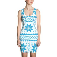 Make a statement and look fabulous in this all-over printed, fitted dress. • Imported fabric: 82% polyester / 18% spandex • Printed, cut, and sewn in Los Angeles with love • Material has a four-way stretch, which means fabric stretches and recovers on the cross and lengthwise grains. • Made with smooth, comfortable microfiber yarn