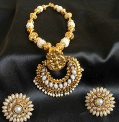Photo: BOOK AT: http://www.mirraw.com/designers/dreamjwell/designs/gorgeous-royal-huge-ram-leela-pendant-pearl-necklace-set-necklace-set   Product ID: 151208   INR 2000 / USD 35.71 / MYR 113.64   Queries: help@mirraw.com / +91-8080781780
