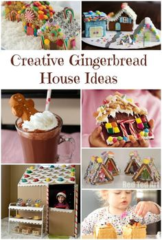 Gingerbread House Ideas...fun ideas for traditional, healthy, and play gingerbread houses