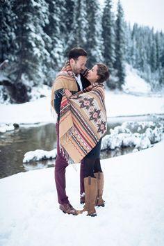 Engagement winter photoshoot