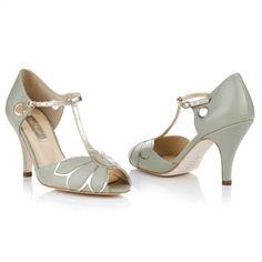 Rachel Simpson - Mimosa Pale Mint Wedding Shoes £170
