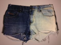 Half & Half Bleached/Acid Washed High Waisted Shorts (Made to Order). $12.95, via Etsy.
