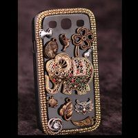 Samsung Galaxy S2 S3 black case vintage elephant animal back 3d cover - Samsung Phone Cases - Phone Cases Rhinestones iPhone 5 4S 3GS Cases, Couple Necklaces / Wedding Rings & Uncommon Gift Ideas - Worldwide Shipping