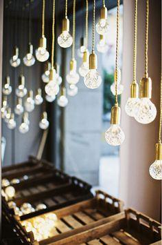 crystal light bulbs + brass | vogue australia