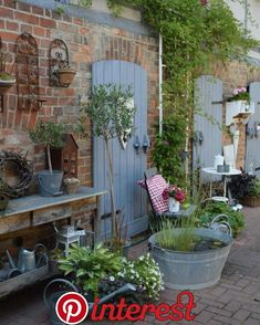 rustic garden decor How to give your garden a rural rustic air easy summer DIY design It is not necessary to say that the rustic garden design is simple. In other words, as natural as possible. Of course, this