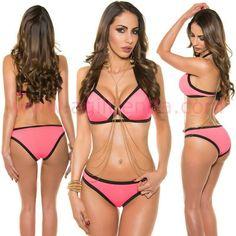 #Original #bañador #bikini #efecto #sport tejido #elastico resistente de #excelente #calidad con #diseño #exclusivo triangular con bordes de #colores que destaca la figura #estilizando la figura con #tendencia joven y @sexy para brillar bajo el #sol en todas las @playas en #verano con aire #sofisticado. Encuentralo en #trajesdebaño http://www.agiltienda.com/es/home/2477-chic-bikini-con-tendencia.html #shop #online #taradell