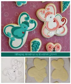 Monkeys out of heart cookie cutters - I know the little monkey I'm going to make this for
