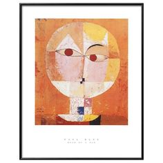 """Art.com """"Head of Man"""" Going Senile Framed Wall Art, Orange"""