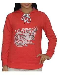 NHL DETROIT RED WINGS Womens Athletic Warm Hockey Hoodie / Sweatshirt S Red