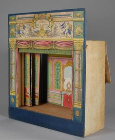 French toy theater c.1860-70 Toy Theatre, Theater, Up Book, Book Art, Paper Puppets, Marionette, Paper Fans, Shadow Puppets, Doll Shop