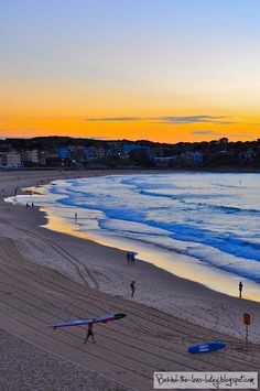 Bondi Beach at Sunrise-Studying abroad in Australia was the best thing I have ever done in my life...I hope I get to go back...Loved Manley Beach even more.
