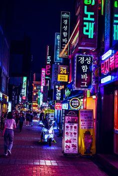 Cyberpunk Daegu Art Print by lessthanjakephotography Aesthetic Korea, Night Aesthetic, City Aesthetic, Japanese Aesthetic, Travel Aesthetic, Arte Cyberpunk, Cyberpunk Aesthetic, Cyberpunk City, Pop Art Wallpaper