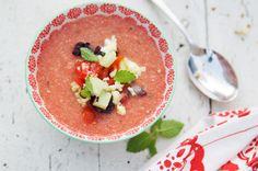 Gazpacho. I've never heard of this until now - sounds delicious and can't wait to make it.