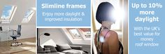 Save money on slimline roof window frames at Sterlingbuild, and enjoy more glazing area and more daylight.