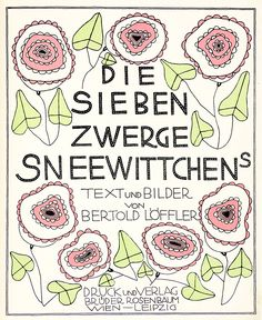 Bertold Löffler, cover Die Sieben Zwerge Sneewittchens, 1912 Art Deco, Art Nouveau, Indian Folk Art, Objet D'art, Bullet Journal, Comics, Abstract, Illustration, Vienna