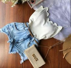 Amei... Teen Fashion Outfits, Mode Outfits, Night Outfits, Cute Fashion, Outfits For Teens, Summer Outfits, Girl Outfits, Cute Casual Outfits, Short Outfits