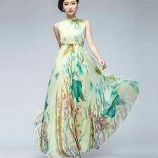 Dress - Floral long