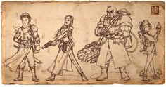 Imperial Steam and Light is an ongoing project by steampunk illustrator James Ng, inspired by Chinese history and the Industrial Revolution. Character Concept, Concept Art, Character Design, Pencil Illustration, Steampunk, My Arts, Language, Comic Books, Ink