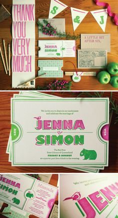 wedding invitation design by the hungry workshop http://sarahgabler.blogspot.com/2011/01/jenna-simon.html
