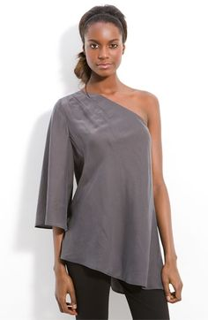 Halogen® Asymmetric One Shoulder Blouse | Nordstrom - StyleSays