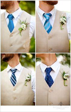 Cravates bleues