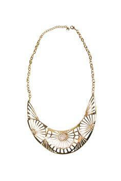 $22.90 Shoptiques — Gold Floral Collar Necklace