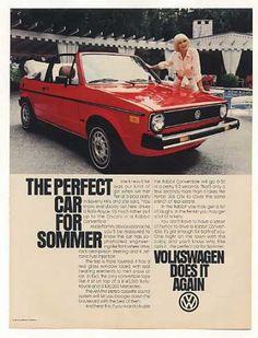 Elke Sommer VW Volkswagen Rabbit Convertible (1981) and it keeps on giving! She never stops running!