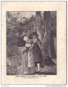 Schillers Abschied von seiner Mutter vor seiner Flucht- Druck, entnommen aus…