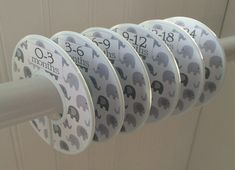 Baby Closet Dividers Gray Elephants Clothes by WatchMeGrowStickers