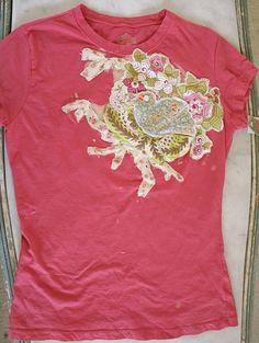 Love this t-shirt refashion.