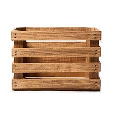 Poplar Wood Crates (3 sizes)