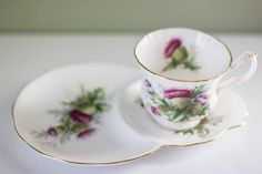 Highland Thistle Tea Cup Set of 10 by francesmoulin on Etsy