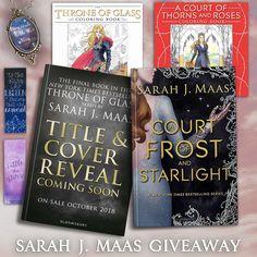 Sarah J Maas YA Fantasy Books Giveaway