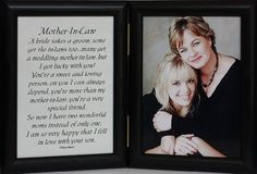 5x7 Double Hinged MOTHER-IN-LAW Poem ~ BLACK Picture/Photo Frame ~ A Wonderful Gift Idea for the MOTHER-IN-LAW OF THE BRIDE! by PersonalizedbyJoyceBoyce.com, http://www.amazon.com/dp/B00CJJ5DWU/ref=cm_sw_r_pi_dp_jT7Erb0G8Y8QB