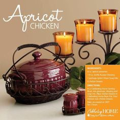 Apricot Chicken (using Bean Pot from Celebrating Home) http://www.celebratinghome.com/sites/charellturner