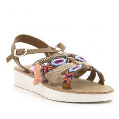 Sandalia étnica piel CREEKS Shoes, Fashion, Suitcases, Vacations, Shoes Sandals, Winter, Fur, Sports, Moda