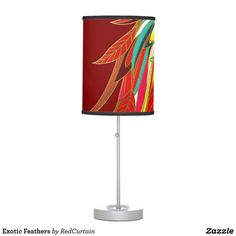 Exotic Feathers Desk Lamp