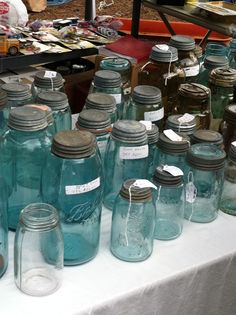 Vintage canning jars-love the vintage I have found a couple.