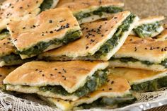 Onion Pie with Nettle for Palm Sunday Recipe. How to prepare Onion Pie with Nettle for Palm Sunday. Sift flour and in a well in the middle, add the <a. Finger Food Appetizers, Appetizers For Party, Finger Foods, Turkish Recipes, Ethnic Recipes, Arabic Recipes, Palestinian Food, Onion Pie, Ramadan Recipes