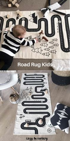 Adventure Carpet,Crawling Mat Sirwolf Kids Rug Street Cotton Map,Children Area Rug,Baby Racing Game Blanket