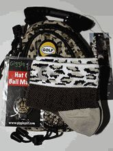 Animal Pack: This pack contains an animal print mini day pack, socks that say here kitty kitty and a golf cougar hat clip ball marker.